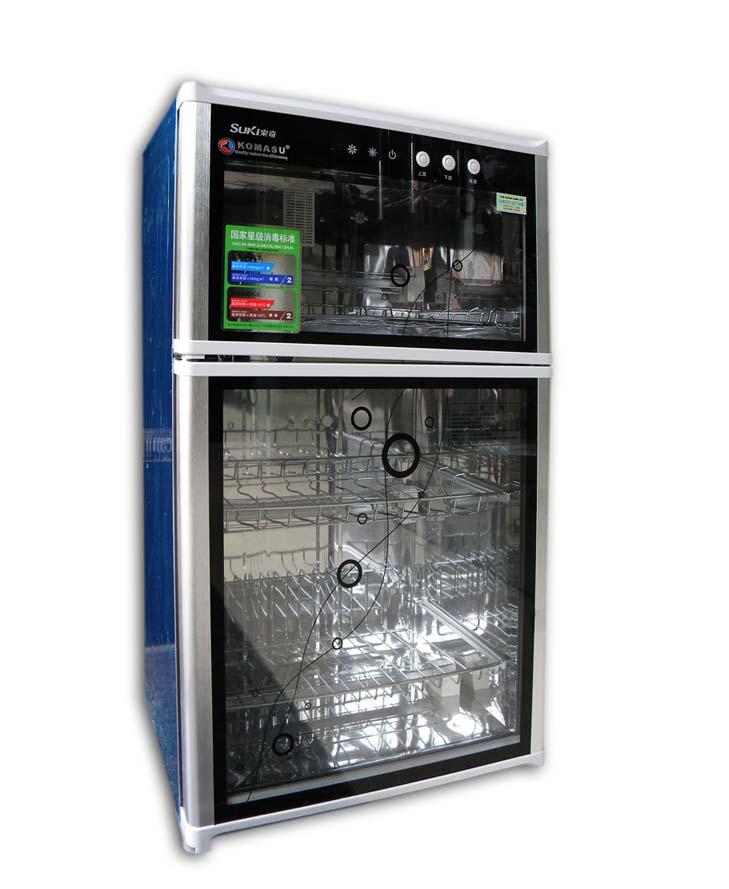 Máy sấy bát Komasu ZTP80 - 2 kính trong tủ đứng