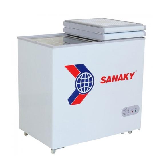 Tủ đông sanaky VH-256W1 dàn nhôm có giá tham khảo 4.700.000 đồng
