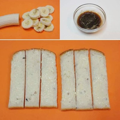 món bánh mỳ nướng chuối
