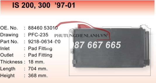 giàn nóng lexus IS 250