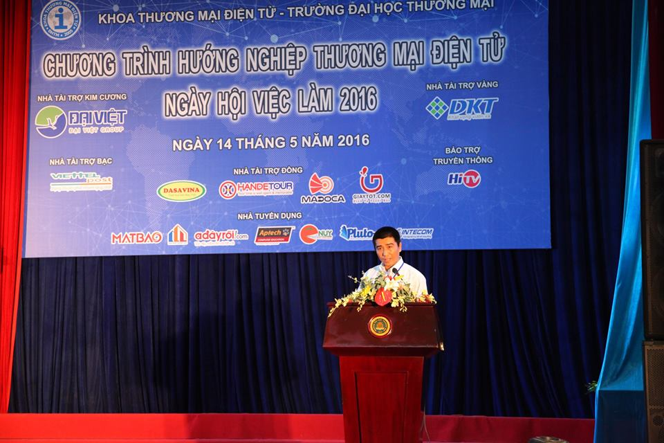 Thạc sỹ Nguyễn Bình Minh- Trưởng BTC CT đọc diễn văn khai mạc