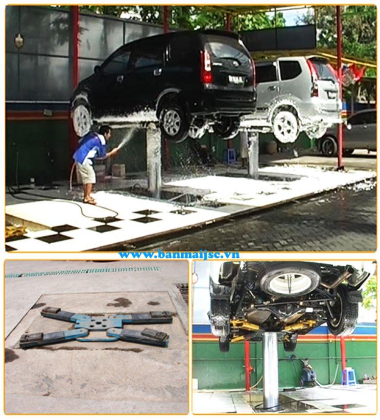 Ben nâng rửa xe ô tô 1 trụ, Cầu nâng rửa xe 1 trụ