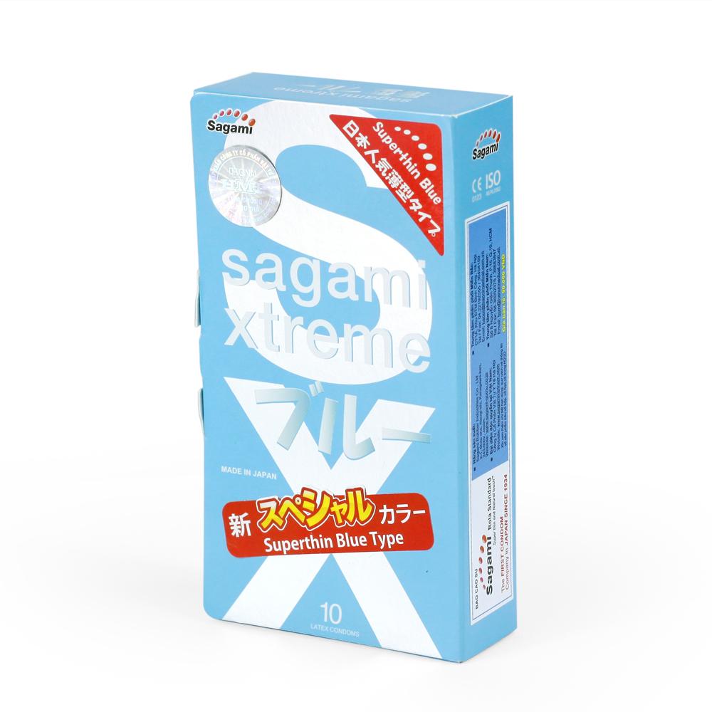 bao cao su Sagami Rola super thin blue type