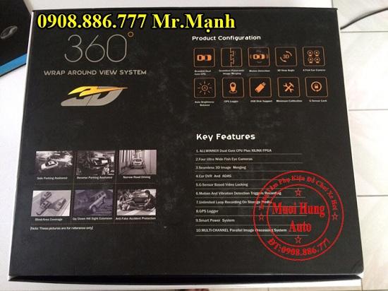 Camera 360 Độ Chevrolet Spark Chính Hãng 02