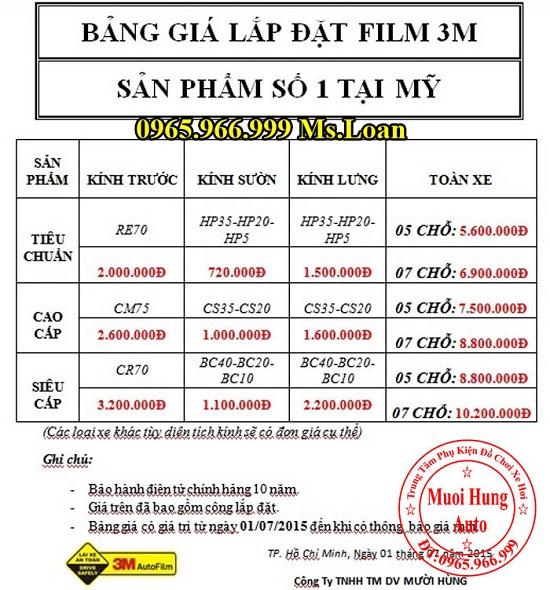 Dán Phim 3M Cao Cấp Cho Kia Sorento 04