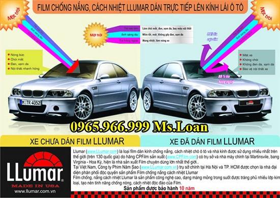 Dán Phim Chống Nóng Llumar Cho Lexus LX570
