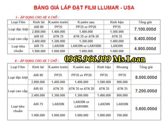Dán Phim Chống Nóng Llumar Cho Lexus LX570 03