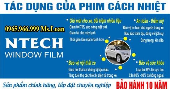 Dán Phim Ntech Cho Mercedes C200, C300 Uy Tín