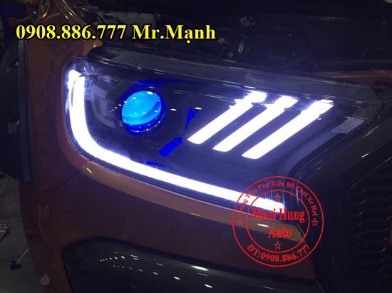 Độ Đèn Led, Mắt Quỷ Cho Ford Ranger 01