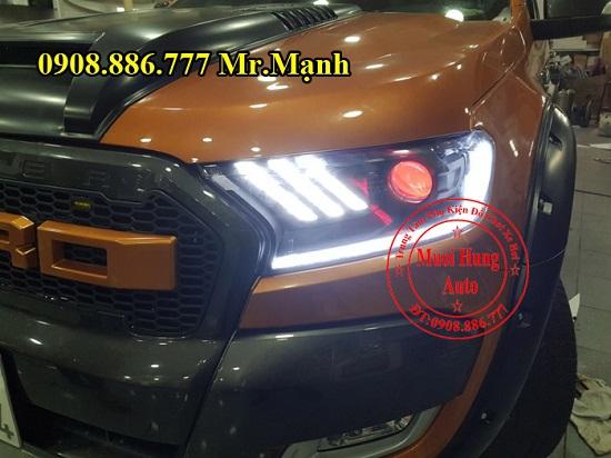 Độ Đèn Led, Mắt Quỷ Cho Ford Ranger 03