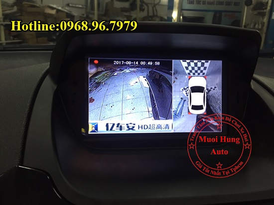 Gắn Camera 360 Độ Cho Xe Ford Ecosport 02