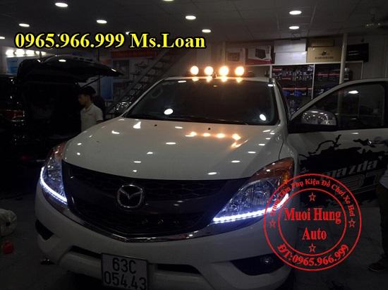 Lắp, Gắn Đèn Mui Cho Xe Mazda BT50 01
