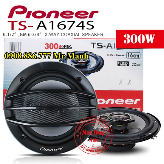 Lắp Loa Cánh Cửa Pioneer TS-A1674S Cho Ô Tô