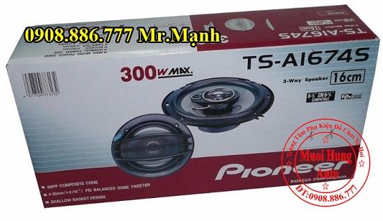 Lắp Loa Cánh Cửa Pioneer TS-A1674S Cho Ô Tô 01