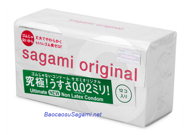 Bao cao su siêu mỏng, chống dị ứng Sagami Original 0,02