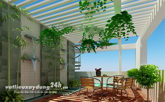 Giải pháp chống nóng cho sân thượng