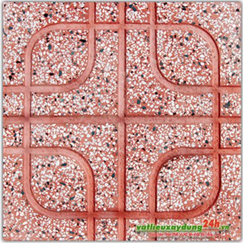 Gạch terrazzo đỏ - Kiểu Ô vuông
