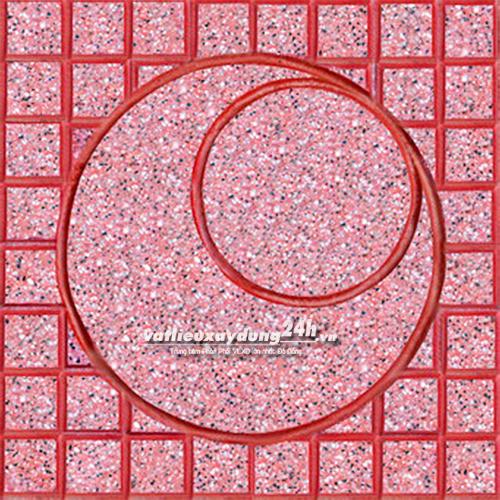 Gạch Terrazzo đỏ - Kiểu Mắt nai