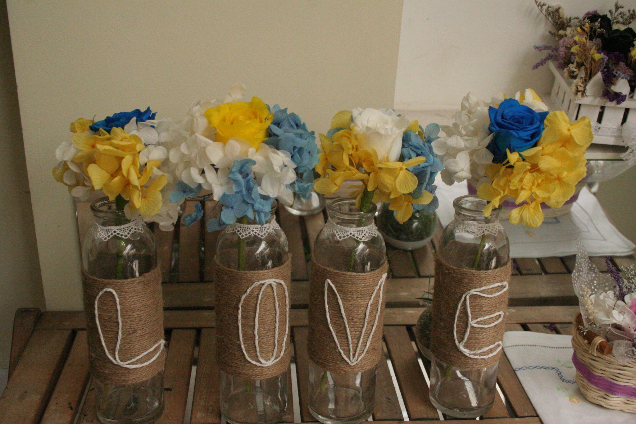 Bộ Love Trang Trí Tiệc Cưới Bằng Hoa tươi Mãi Mãi