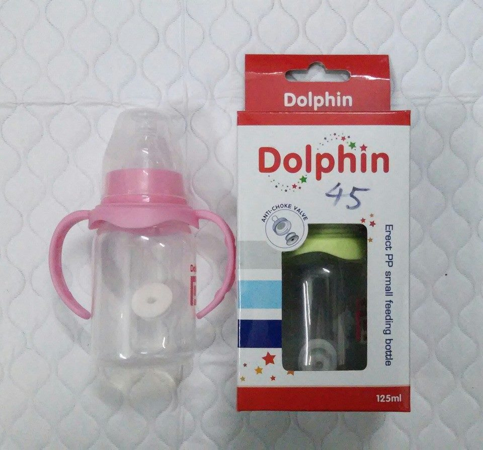 Bình sữa Dolphin 125ml có tay cầm