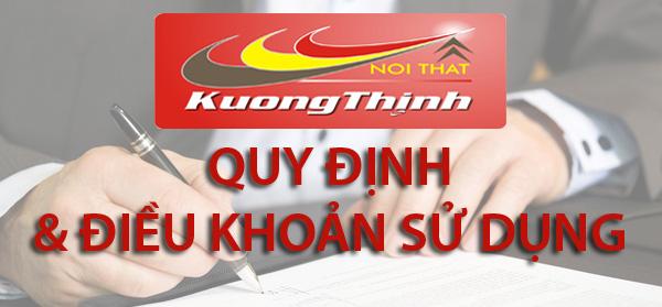 quy định sử dụng website noithatkuongthinh.com.vn