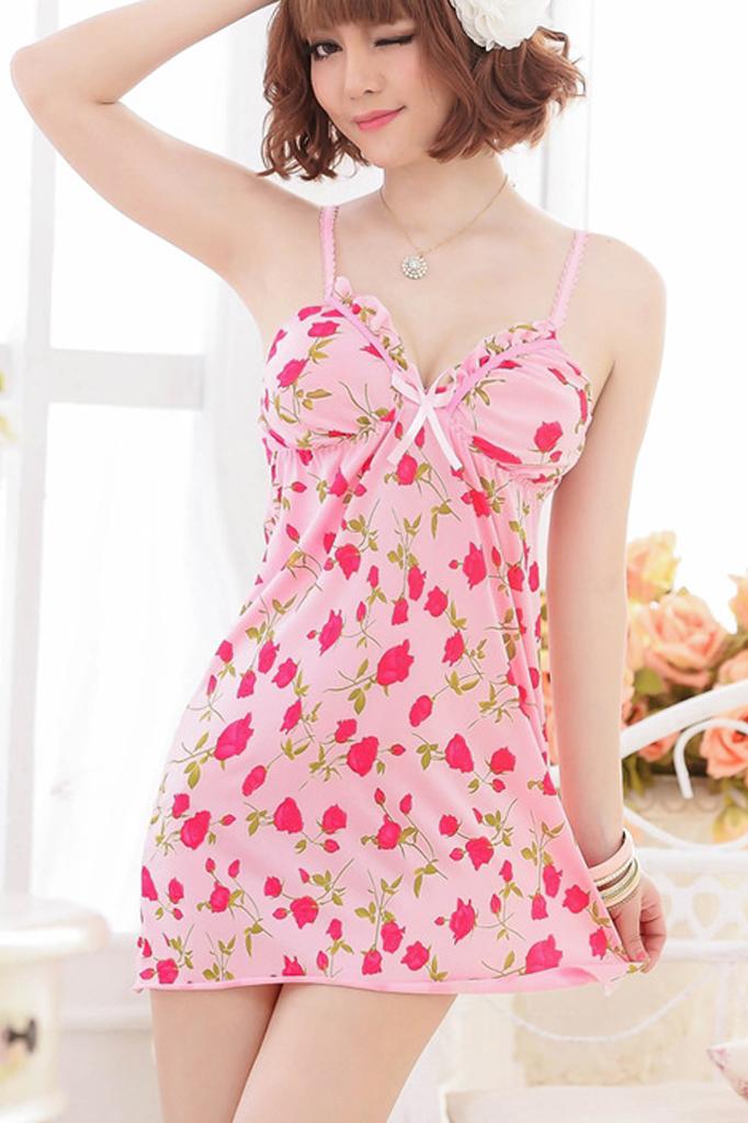 Váy Ngủ Mặc Nhà Hoa Hồng 0347