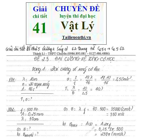 Đề + Lời giải chi tiết 41 chuyên đề ôn thi đại học Vật Lý phần 2