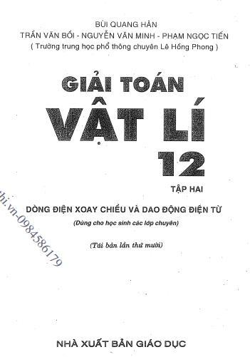 Giải toán vật lý 12 tập 2 - Bùi Quang Hân