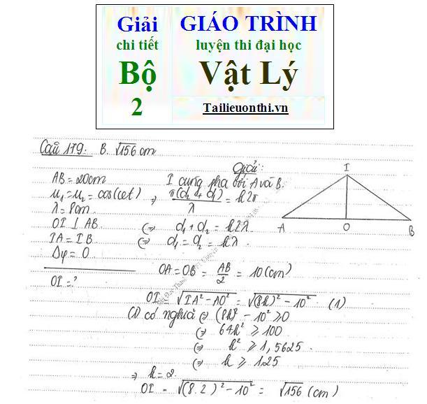 Đề+Lời giải chi tiết bộ giáo trình ôn thi đại học Vật Lý phần sóng cơ