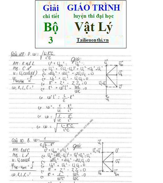 Đề+Lời giải chi tiết bộ giáo trình ôn thi đại học Vật Lý phần điện xoay chiều