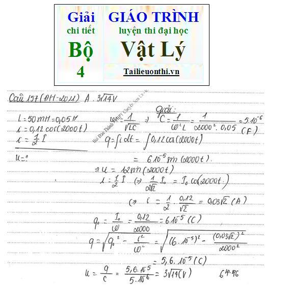 Đề+Lời giải chi tiết bộ giáo trình ôn thi đại học Vật Lý phần dao động điện từ