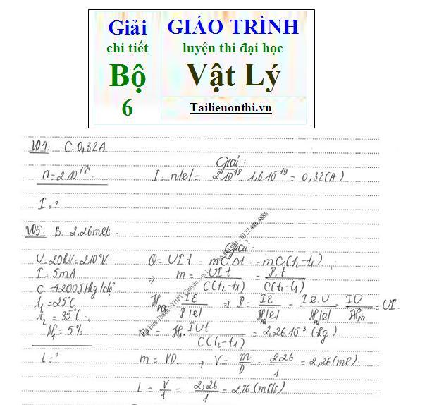 Đề+Lời giải chi tiết bộ giáo trình ôn thi đại học Vật Lý phần lượng tử ánh sáng