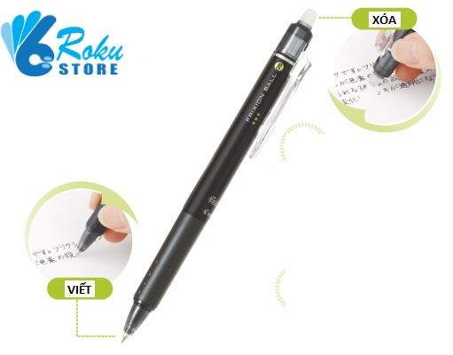 Cách viết và xóa bút bấm Frixion Pilot