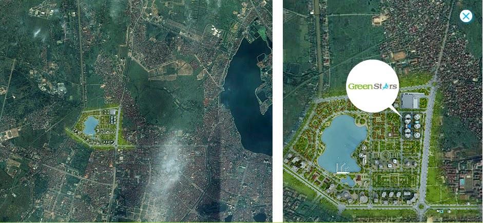 Vị trí dự án Thành Phố Giao Lưu