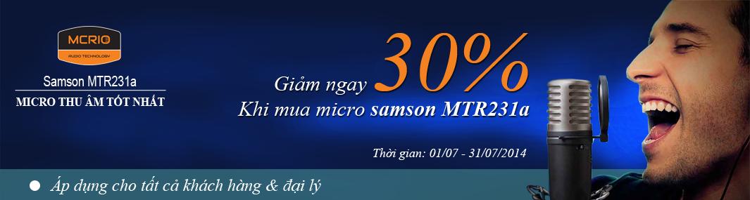 MTR231 micro thu âm tốt nhất của hãng Samson
