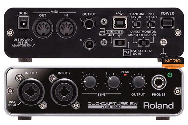 card sound thu âm Roland EXUA22 mcrio.vn