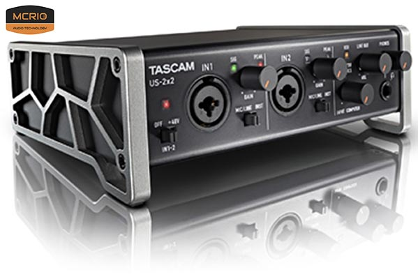 card sound thu âm Tascam US 2x2