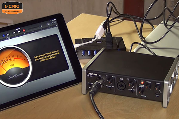 card sound thu âm Tascam US 2x2 mcrio.vn