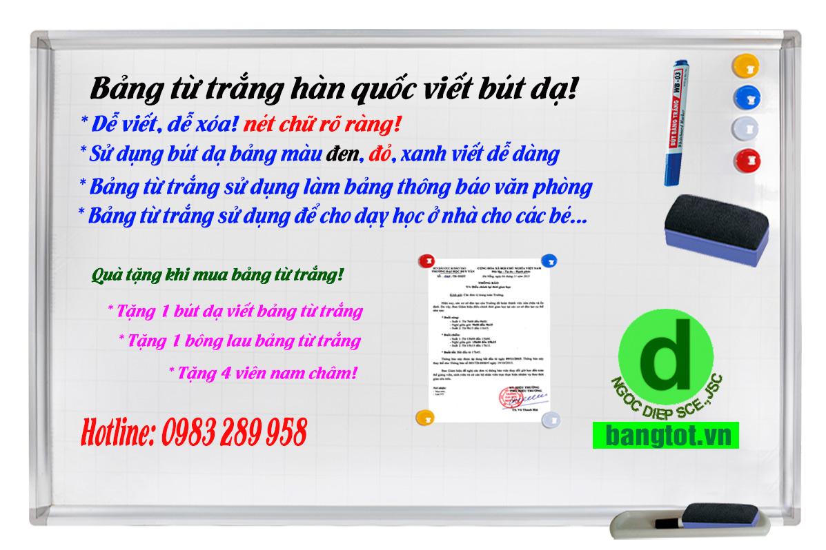 mua bảng từ trắng giá rẻ ở Long Biên