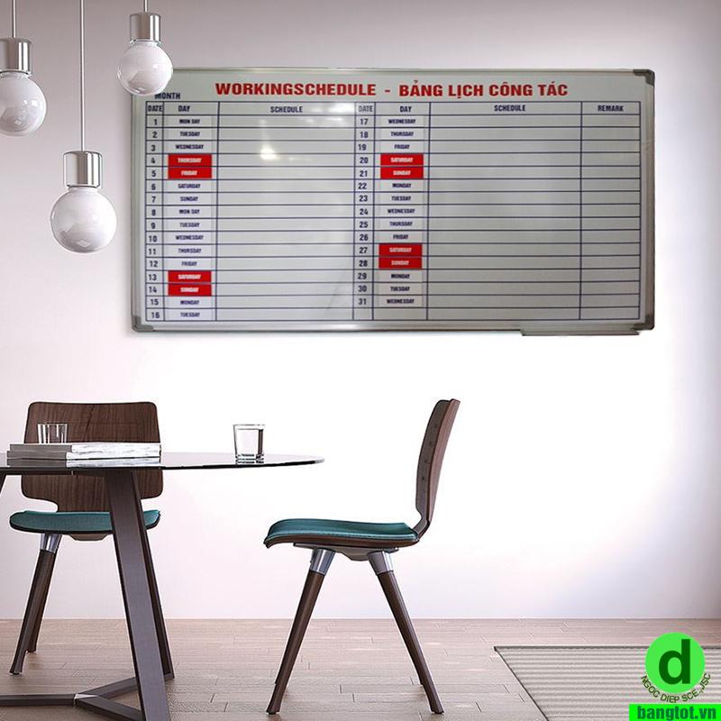 bảng kế hoạch tháng