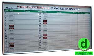 bảng kế hoạch công việc bình định
