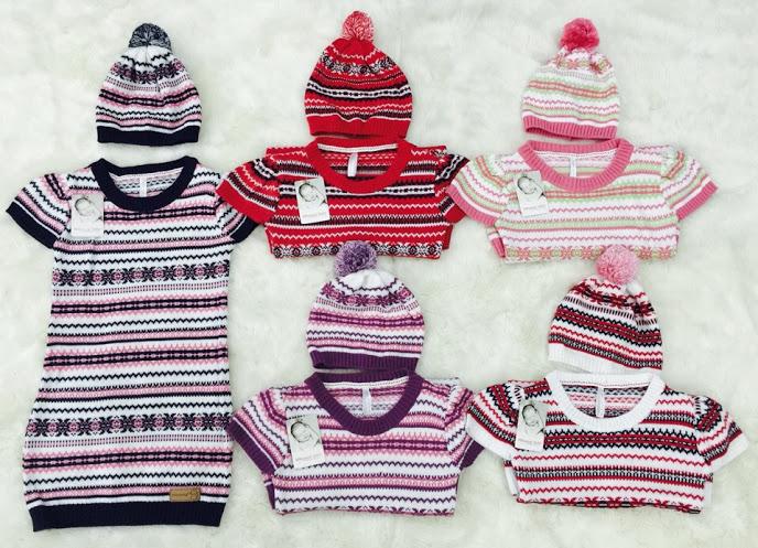 Váy len dáng ôm bé gái Momma Baby kèm mũ  http://kimnams.vn