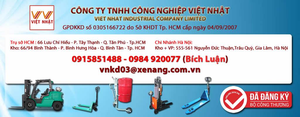 Xe nâng tay - xe nâng bán tự động - thang nâng - 0915851488 - Bích Luận