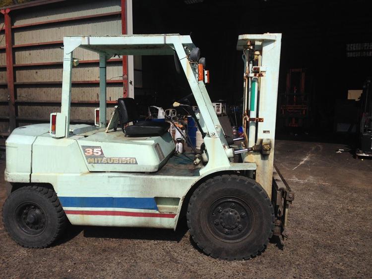 Xe nâng động cơ dầu cũ 3.5 tấn càng dịch chuyển vô cấp