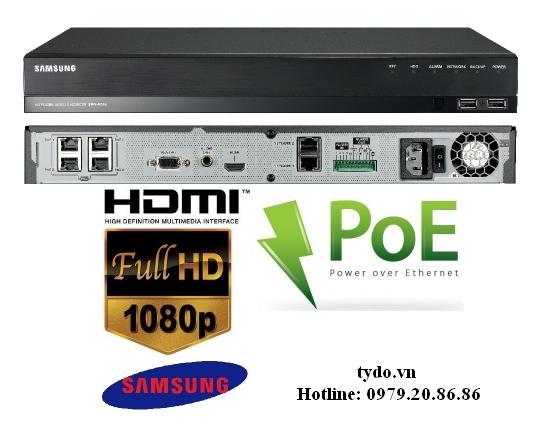Đầu ghi hình camera IP 4 kênh SAMSUNG SRN-472S