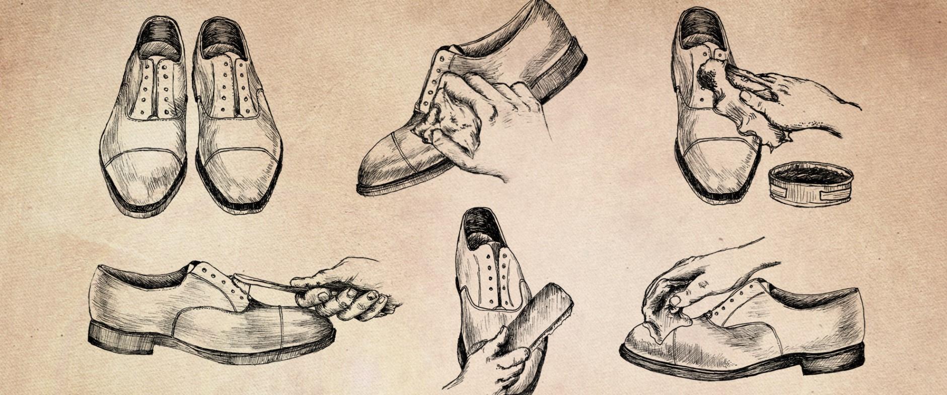 Đánh xi giày tại nhà