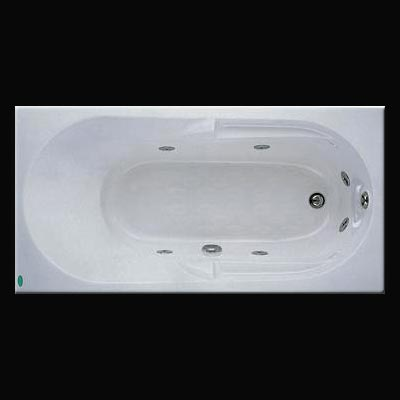 Bồn tắm xây Massage không chân yếm Caesar MT0250