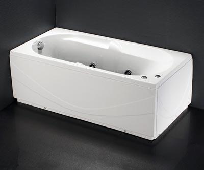 Bồn tắm nằm Massage có chân yếm Caesar MT0250L(R)