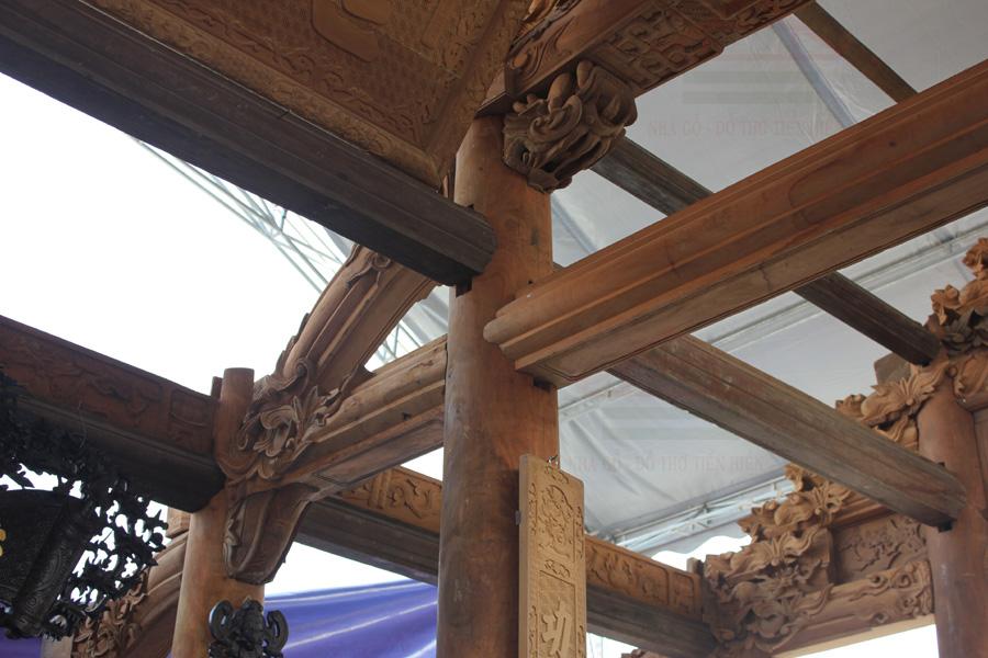 nhà gỗ mít 3 gian
