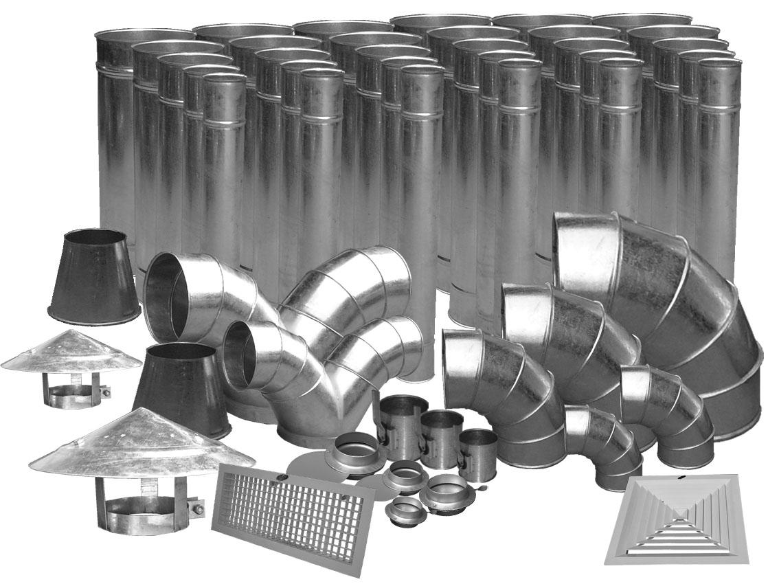 Các vật liệu thi công ống gió